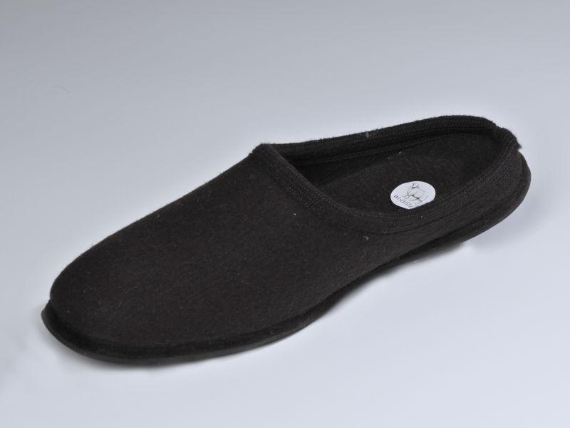 wollfilzpantoffel schwarz